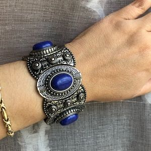 Blue Stone Silver Bracelet- NWOT